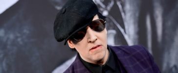 """HOLLYWOOD, CA - MAY 08: Marilyn Manson attends the premiere of Warner Bros. Pictures' """"King Arthur: Legend Of The Sword"""" at TCL Chinese Theatre on May 8, 2017 in Hollywood, California. (Photo by Matt Winkelmeyer/Getty Images)"""