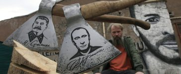 Putin Axe (Reuters Pictures)
