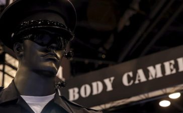 Police body cameras are seen on a mannequin at an exhibit booth by manufacturer Wolfcom at the International Association of Chiefs of Police conference in Chicago, Illinois, October 26, 2015. REUTERS/Jim Young