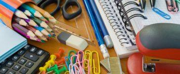 School office supplies. Credit: Es75/Shutterstock