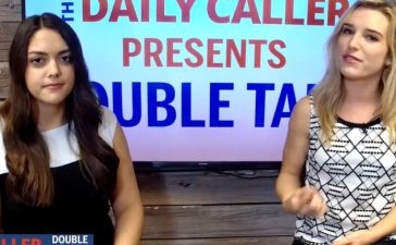 "Amber Athey and Julia Nista host ""Double Take"" (Photo: Screenshot/The Daily Caller)"