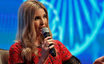 Ivanka Trump, daughter of U.S. President Donald Trump, during the Global Entrepreneurship Summit (GES) in Hyderabad, India November 29, 2017. REUTERS/Cathal McNaughton - RC12ECDB1AE0