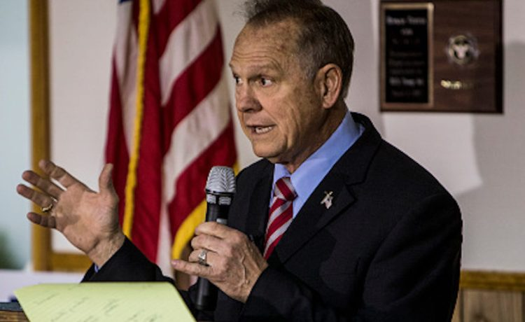 HENAGAR, AL - NOVEMBER 27: Judge Roy Moore holds a campaign rally on November 27, 2017 in Henagar, Alabama. Over 100 supporters turned out to the event packing the Henagar Event Center. (Photo by Joe Buglewicz/Getty Images)