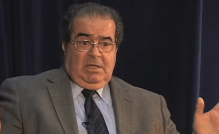 Justice Antonin Scalia speaks at the University of California Hastings College of Law in 2011. (YouTube screenshot/UCTV)