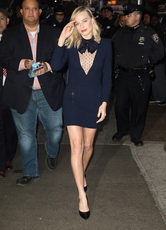 Margot Robbie at 'Good Morning America' in New York City. (Picture by: Splash News)