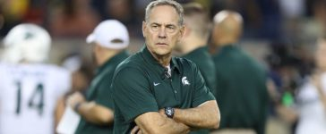 ANN ARBOR, MI - OCTOBER 07: Michigan State Spartans head football coach Mark Dantonio prior to the start of the game against the Michigan Wolverines at Michigan Stadium on October 7, 2017 in Ann Arbor, Michigan. (Photo by Leon Halip/Getty Images)