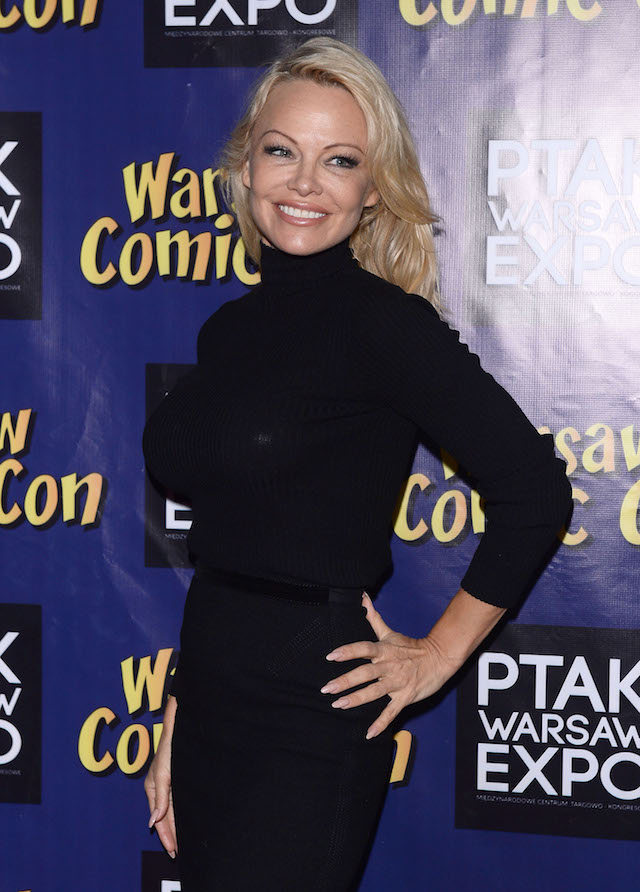 Pamela Anderson during the 'Comic Con' in Warsaw <P> Pictured: Pamela Anderson <B>Ref: SPL1629687 271117 </B><BR /> Picture by: Splash News