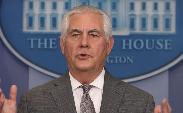 Secretary of State Rex Tillerson speaks to the media about North Korea during White House Press Secretary Sarah Huckabee's daily press briefing at the White House on November 20, 2017 in Washington, DC. (Photo by Mark Wilson/Getty Images)