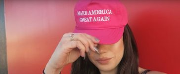Woman gets attacked for wearing a MAGA hat around Hollywood/ screenshot via YouTube