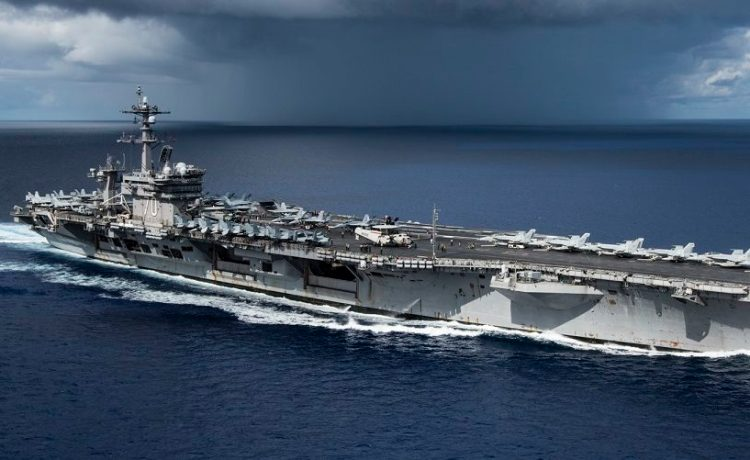 USS Carl Vinson Transits The Philippine Sea