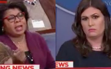 April Ryan and Sarah Huckabee Sanders (Photo: Screenshot/MSNBC)