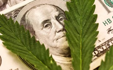 shutterstock_Money Marijuana. Hundred dollar bill of the USA Franklin. By Pro_Stock