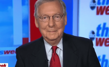 Senate Majority Leader Mitch McConnell completely changed his stance on Alabama senate candidate Roy Moore Sunday. (Photo: Screen Shot/Mitch McConnell/Youtube)