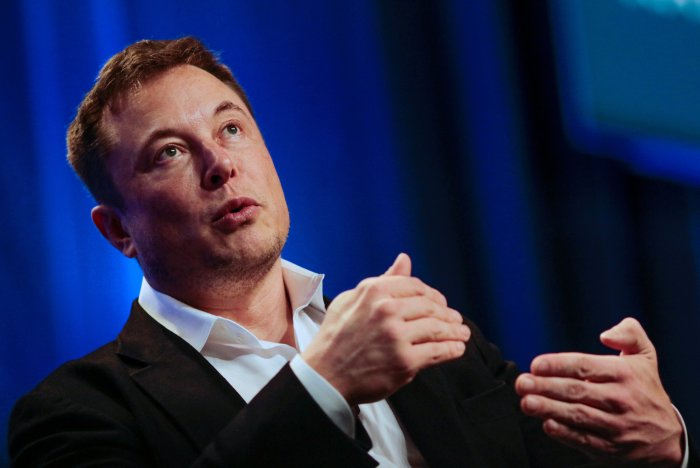 "Tesla and SpaceX CEO Musk speaks in a ""fireside chat"" at the NLC 2018 City Summit in Los Angeles"