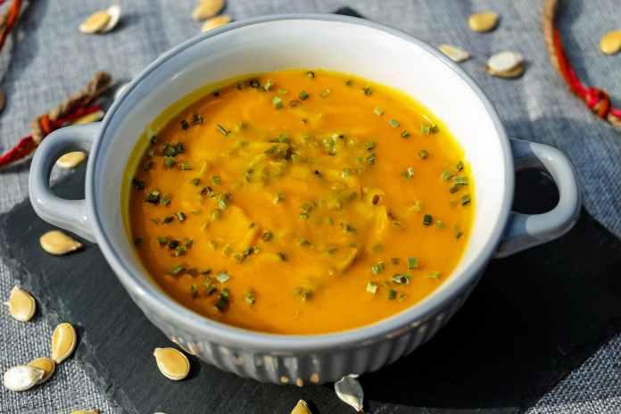 soup on white ceramic soup bowl
