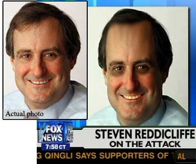 Steven Reddicliffe - Before and After Fox News\'s Photoshop