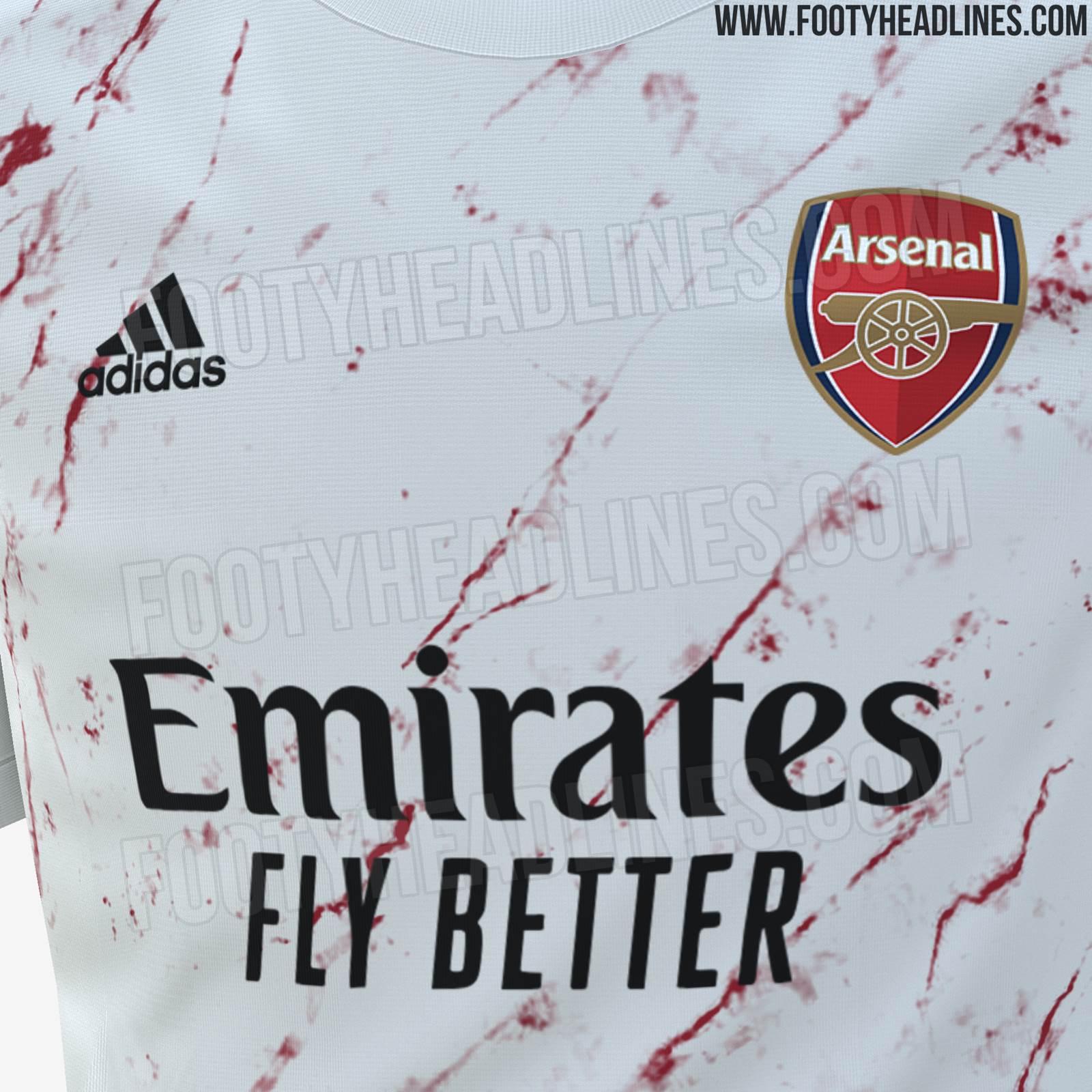 rumoured arsenal 2020 21 away shirt