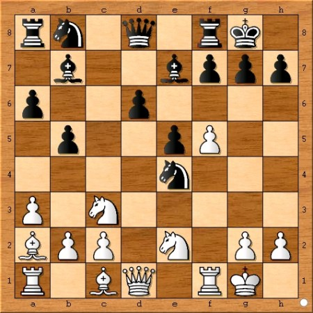 Position after 12... Nxe4.