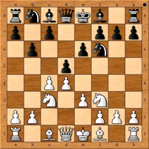 Chess Master Eric Schiller now leads in piece development and space.
