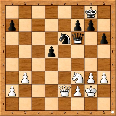 The position after Viswanathan Anand plays 31... cxd5.