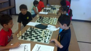 Students at the Fremont Summer Chess Camp enjoy working hard!
