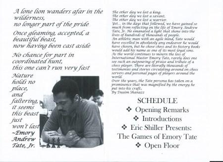 Tate Memorial Program p2