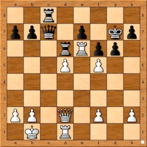 Position after Carlsen plays 24... Rc8.