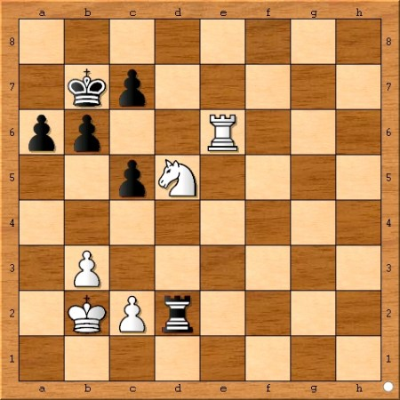 Position after Viswanathan Anand plays 42... Rd2.