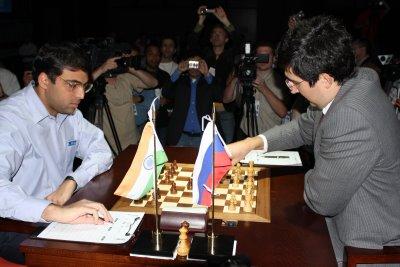 Vladimir Kramnik playing for a win.