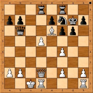 Position after Anand plays 20. Qd2.