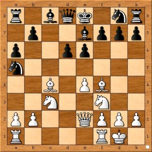 If black wants to move white's bishop on this move, I prefer pawn to b5 as it doesn't place black's knight on the rim. However, black has no shortage of other ideas to try.