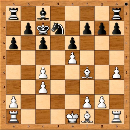 The position after Magnus Carlsen plays 13. h4.