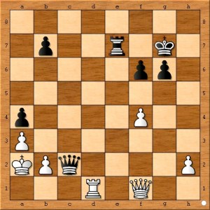 Position after Carlsen plays 41... Qc2.