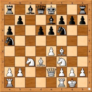 "This seemingly natural developing move is not as safe as it looks because of ""11. e5 dxe5 and then 12. Nxe5."" If black's a5 knight was not on the rim, it could defend e5 from a white knight"