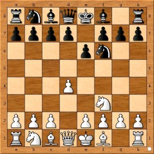 Still no center pawn for Chess Amateur Ted Castro.
