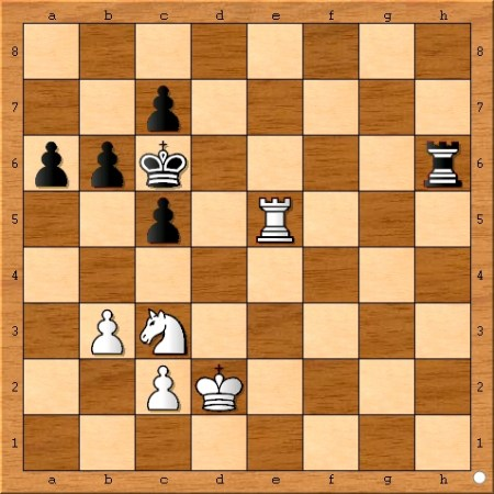 Position after Viswanathan Anand plays 38... a6.