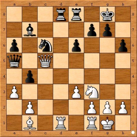 The position after Magnus Carlsen plays 19... b4.