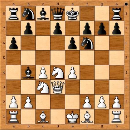 The position after Magnus Carlsen plays 6. Qd3.