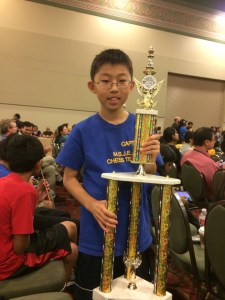 MSJE's David Pan tied for second place in the k-5 section.