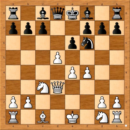 Position after 8 ... Nf6.