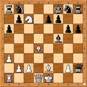 The position after 13... Kf8.