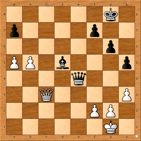 Final position of Capablanca - Spielmann, Bad Kissingen 1928