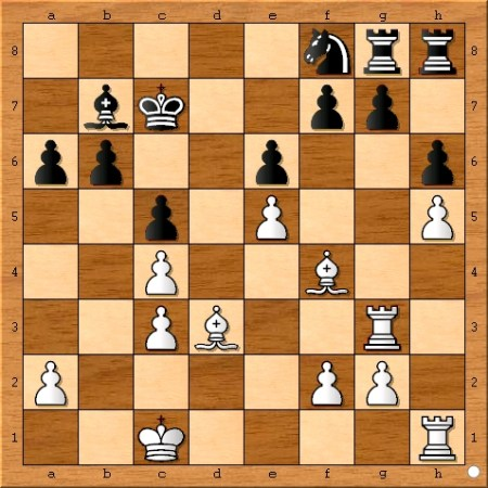 The position after Viswanathan Anand plays 18... Nf8.