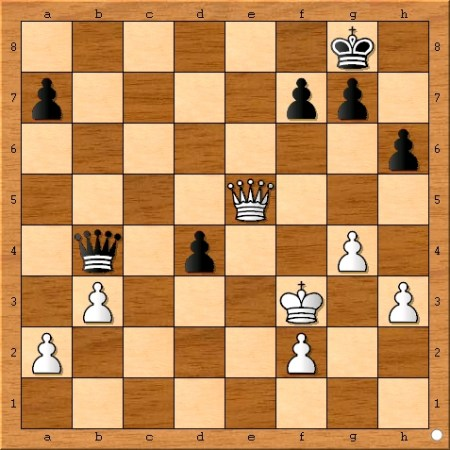 The position after Viswanathan Anand plays 39... d4.