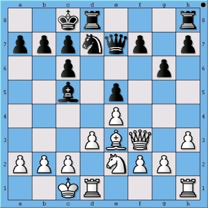 Carlsen's pawn to g6 seems to have shut down Anand's earlier innovation.