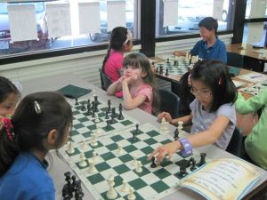 Students studying chess at the Achiever Institute in Fremont, California.