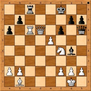 Susan Polgar's queen takes advantage of her adversaries exposed king.