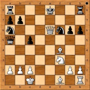 The final position before black resigned.