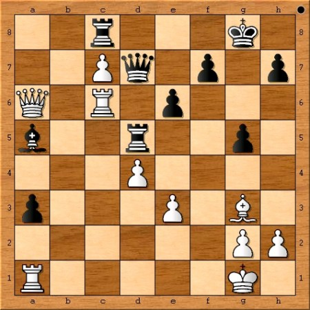 Position after Viswanathan Anand plays 29. Qa6.