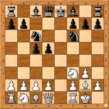 The position after Viswanathan Anand plays 6... Nf6.